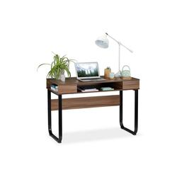 relaxdays Schreibtisch Schreibtisch mit 3 Ablagefächern
