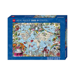 HEYE Puzzle Puzzle Quirky World, 2000 Teile, Puzzleteile