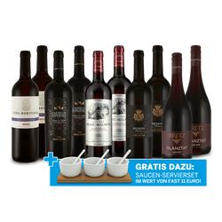 Lagerräumungs-Weinpaket XXL 2021 und Saucen-Servierset gratis