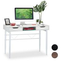 Relaxdays Schreibtisch Schreibtisch mit Schubladen