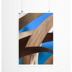 Sinus Art Poster 60x90cm Poster Künstlerische Fotografie – Getrocknete Akazienblätter