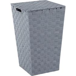Home affaire Wäschekorb, aus Nylon und Metall grau
