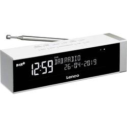 Lenco CR-630WH Radiowecker DAB+, UKW USB Akku-Ladefunktion Weiß