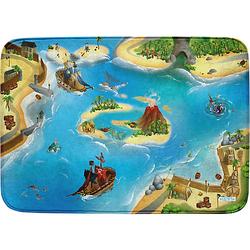Ultrasoft Spielteppich Piraten, 100 x 150 cm blau/grün