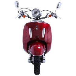 Alpha Motors Motorroller Retro Firenze, 50 ccm, 45 km/h, Euro 4, (mit Topcase), mit Topcase rot