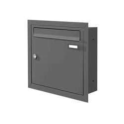 Max Knobloch Briefkasten Max Knobloch Unterputz-Briefkasten anthrazit (RAL 7016) 12 Liter - Einbaubriefkasten anthrazitgrau