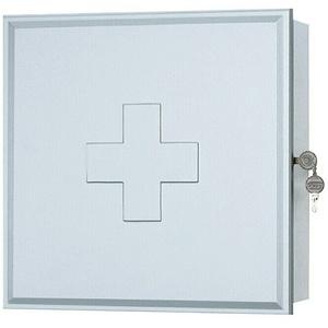 Sieper Medizinschrank  (16 x 39 x 39 cm, Weiß/Silber)