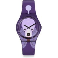 Swatch Damenuhr Purple Poodle GV133