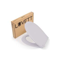 LUVETT WC-Sitz LUVETT Toilettendeckel mit Absenkautomatik C770 oval, WC-Sitz mit 3 Edelstahl Scharnieren, Klobrille mit Abnahmefunktion grau