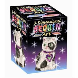3D Sequin Katze Styropor®-Figur