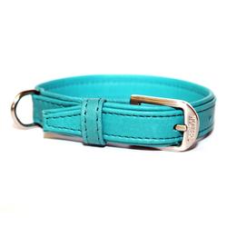 Wolters Halsband Terravita Leder flach, 65cm x 40mm petrol