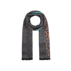 Jacquard-Schal aus Wolle, Baumwolle und Modal Codello grey