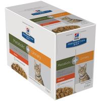 Hill's Prescription Diet Metabolic + Urinary Feline Huhn 12 x 85 g