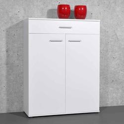 Garderoben Schuhschrank in Weiß 120 cm hoch