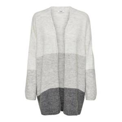 ONLY Gestreifter Strickjacke Damen Grau Female S