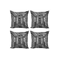 Abakuhaus Kissenbezug Modern Accent Doppelseitiger Digitaldruck, Schwarz Antike Eisenbahnwaggon 50 cm x 50 cm