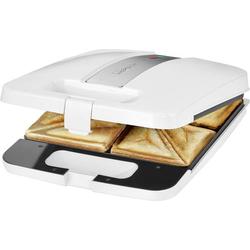 Clatronic ST3629 Sandwich-Toaster Weiß, Silber