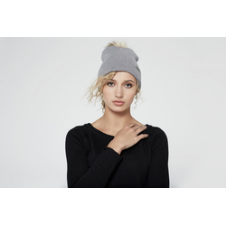HoodLamb Pom Pom Beanie light grey