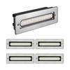 parlat LED Treppen-Licht Treppenbeleuchtung für außen eckig 20x7cm 230V warm-weiß, 5 Stk.