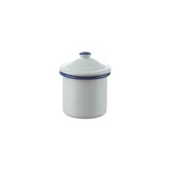 Neuetischkultur Zuckerdose Zuckerdose mit Deckel Retro, Emaille, (1-tlg) weiß