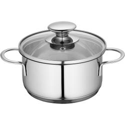 Küchenprofi Mini Kochtopf, Küchentopf inklusive Glasdeckel mit Dampfloch, für energiesparendes Sichtgaren, Volumen: 1 Liter