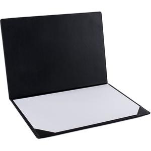Pavo Aufklappbare Schreibtischunterlage, PU Leder, 50 x 35 cm, schwarz