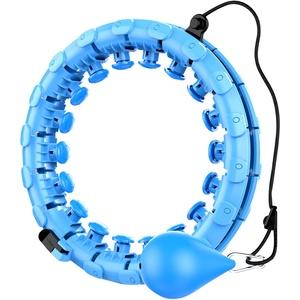 genr Smart Hula Hoop, 24 Segmente ntelligenter Einstellbarer gewichteter Hula Ring mit Massageknoten für Massage Gewichtsverlust Taillenabnehmen, Fitnessreifen Für Anfänger Kinder Erwachsene (A)