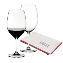 Riedel VINUM Rotweinglas Bordeaux + Poliertuch 3-teilig