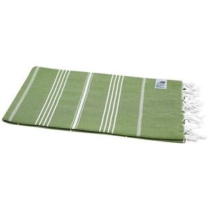 my Hamam Hamamtuch Hamamtuch Sultan olivgrün mit weißen Streifen (1-St), saugfähig und schnell trocknend