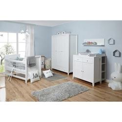 TiCAA Babyzimmer Rosa 5-teilig Kiefer weiß