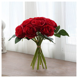 Kunstblume, Gotui, Höhe 29 cm, 10 Köpfe Seidenblumen, Kunstblumen Künstliche Blumenstrauß Blumen