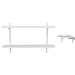 KDR Produktgestaltung Wandregal Wandschienenregal Wandregal Regal für die Wand, Weiß weiß