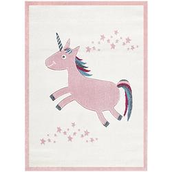 Kinderteppich, EINHORN rosa Gr. 120 x 180
