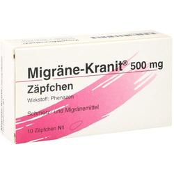 MIGRÄNE KRANIT 500 mg Zäpfchen 10 St