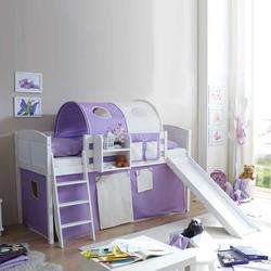 Kinderhochbett mit Vorhang Lila