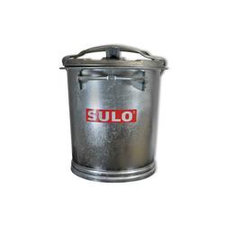 SULO Mülleimer Mülltonne Stahl verzinkt SULO SME Retrodesign Abfalltonne Asche Tonne Eimer 25L