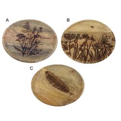 Dekoteller aus Mangoholz - Holzteller Deko Teller Dekoschale Ø 29,5 cm
