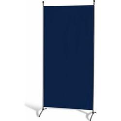 Grasekamp Stellwand 85 x 180 cm - Blau - Paravent  Raumteiler Trennwand Sichtschutz