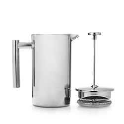 Sjöstrand Coffee Französische Kaffeepresse 800 ml Edelstahl Silber
