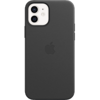 Apple iPhone 12 12 Pro Leder Case mit MagSafe Schwarz