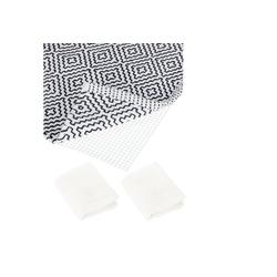 Antirutsch Teppichunterlage 3 x Antirutschmatte Teppich 80x200 cm, relaxdays