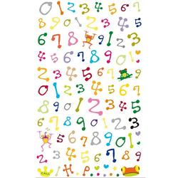Sticker Zahlen Bunt