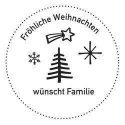Weihnachten Holzstempel - Weihnachtsbaum (Ø 40 mm)
