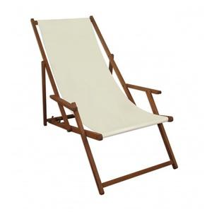 Charmant Liegestuhl Weiß Gartenliege Klappbare Sonnenliege Deckchair Strandstuhl Holz  Gartenmöbel 10 303