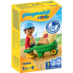 PLAYMOBIL® 1 2 3 Bauarbeiter mit Schubkarre