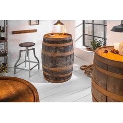 riess-ambiente Stehtisch DEKOFASS 88cm natur, im Whiskyfass-Design