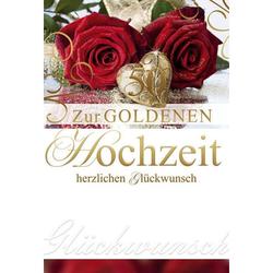 72 211900   Bild Goldhochzeitskarte