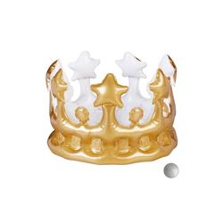 relaxdays Aufblasbares Partyzubehör Aufblasbare Krone goldfarben