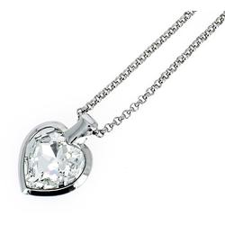 NEUMANN Herzkette Herzkette Titania mit SWAROVSKI Kristall (mit Geschenktüte, Geschenke für Frauen) silberfarben