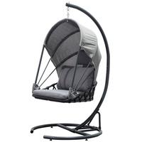 Jet-Line exclusive furniture Jet-Line Hängematte Hängesessel Saturn grau Garten Schaukel Hängestuhl